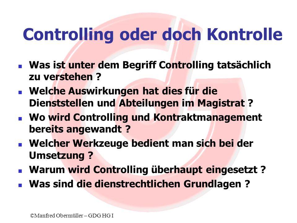 Controlling oder doch Kontrolle