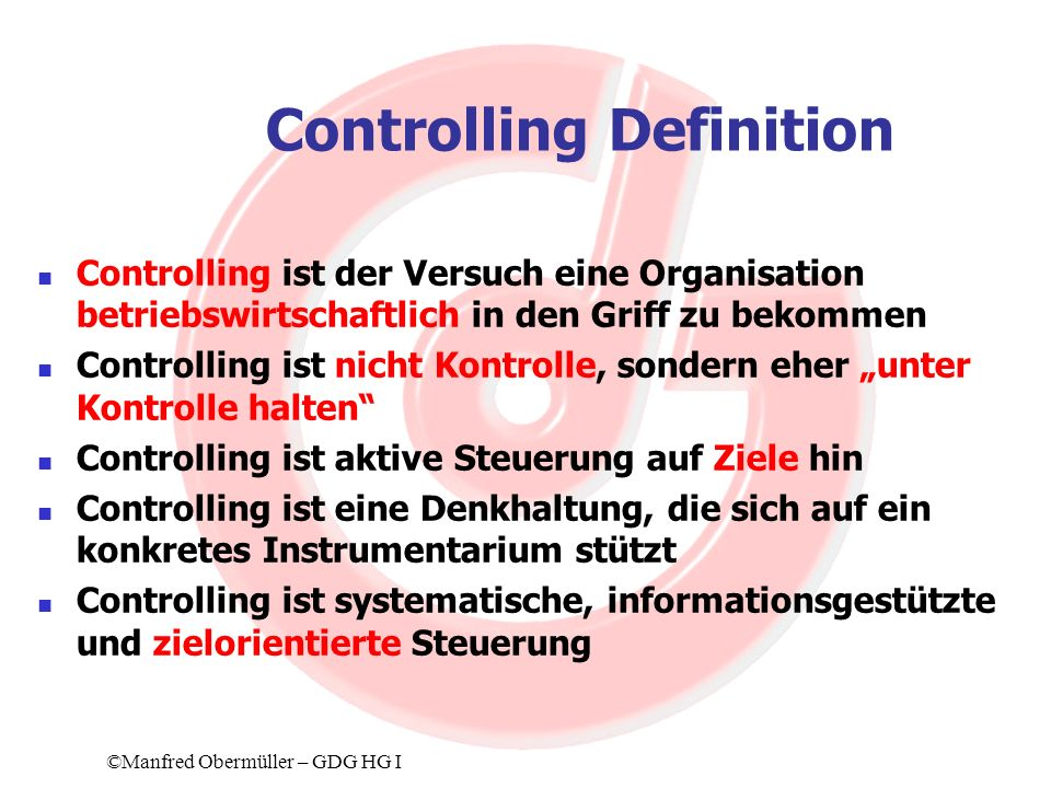 Controlling Definition