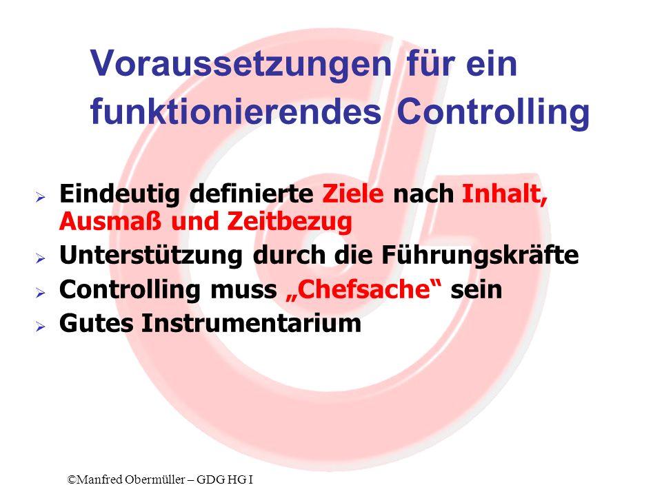 Voraussetzungen für ein funktionierendes Controlling
