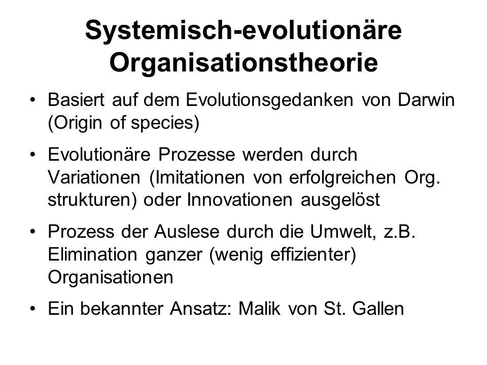 Systemisch-evolutionäre Organisationstheorie