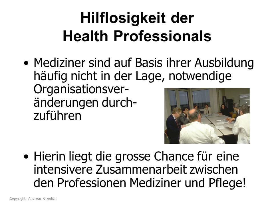 Hilflosigkeit der Health Professionals