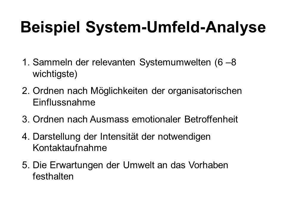 Beispiel System-Umfeld-Analyse