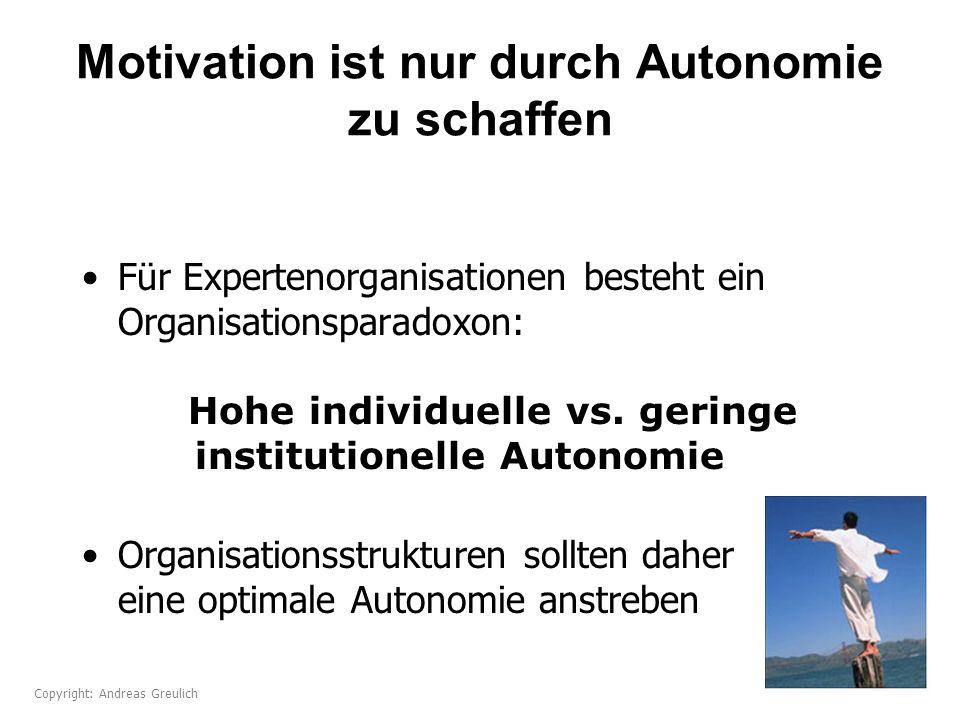 Motivation ist nur durch Autonomie zu schaffen