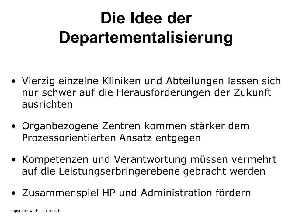 Die Idee der Departementalisierung