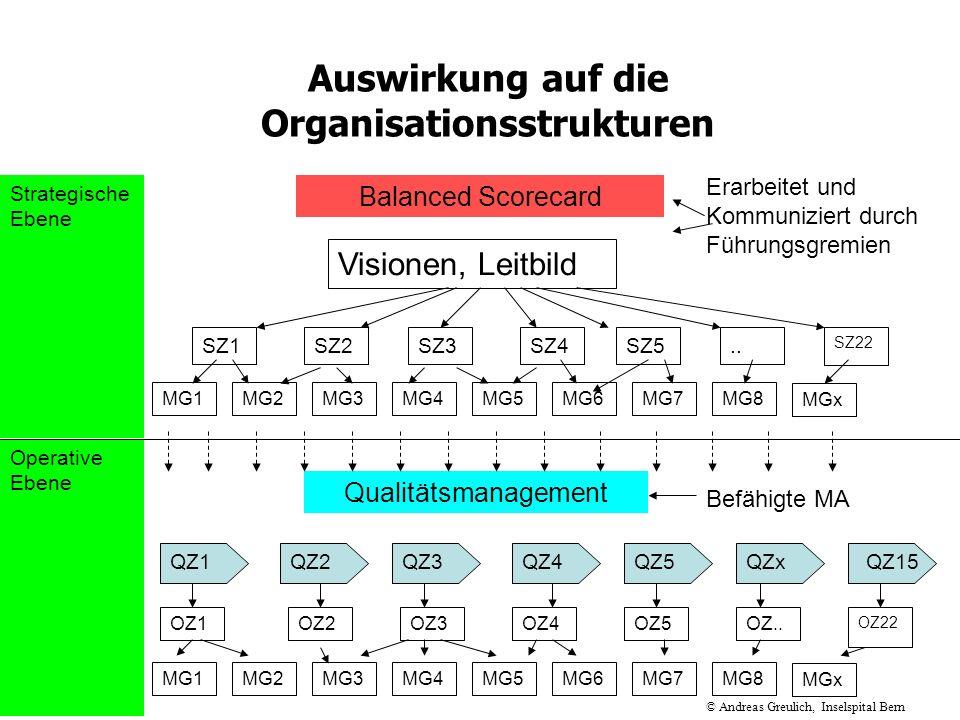 Auswirkung auf die Organisationsstrukturen