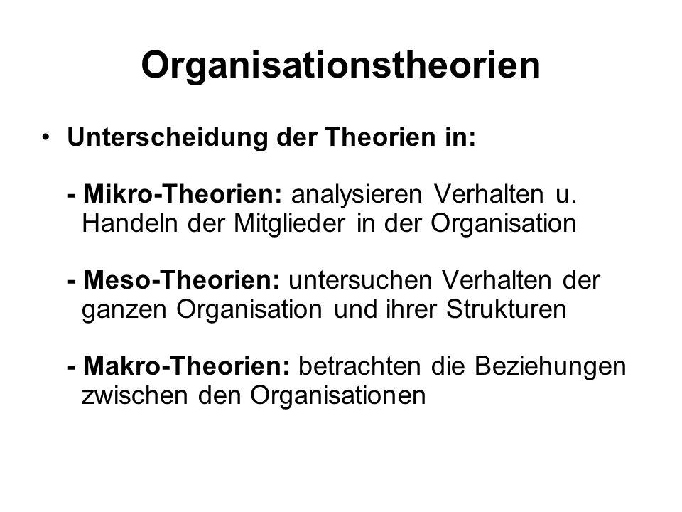 Organisationstheorien