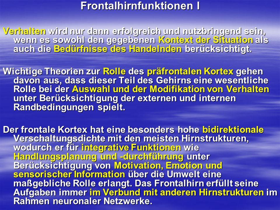 Frontalhirnfunktionen I
