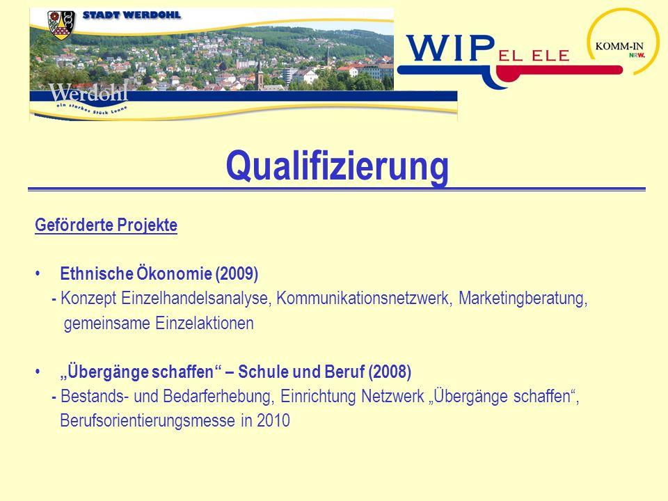 Qualifizierung Geförderte Projekte Ethnische Ökonomie (2009)