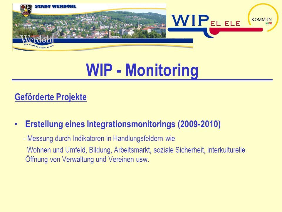 WIP - Monitoring Geförderte Projekte