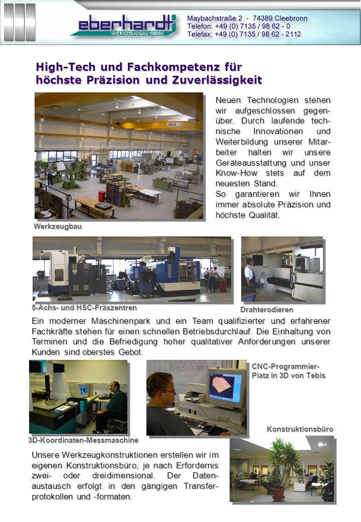 High-Tech und Fachkompetenz für höchste Präzision und Zuverlässigkeit