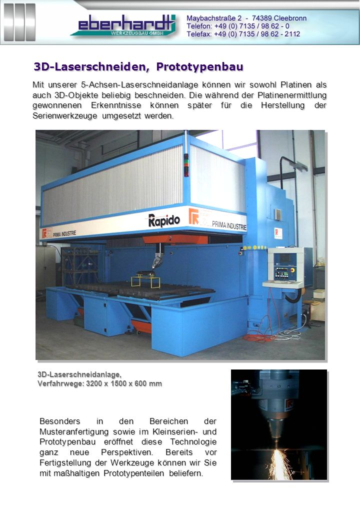 3D-Laserschneiden, Prototypenbau