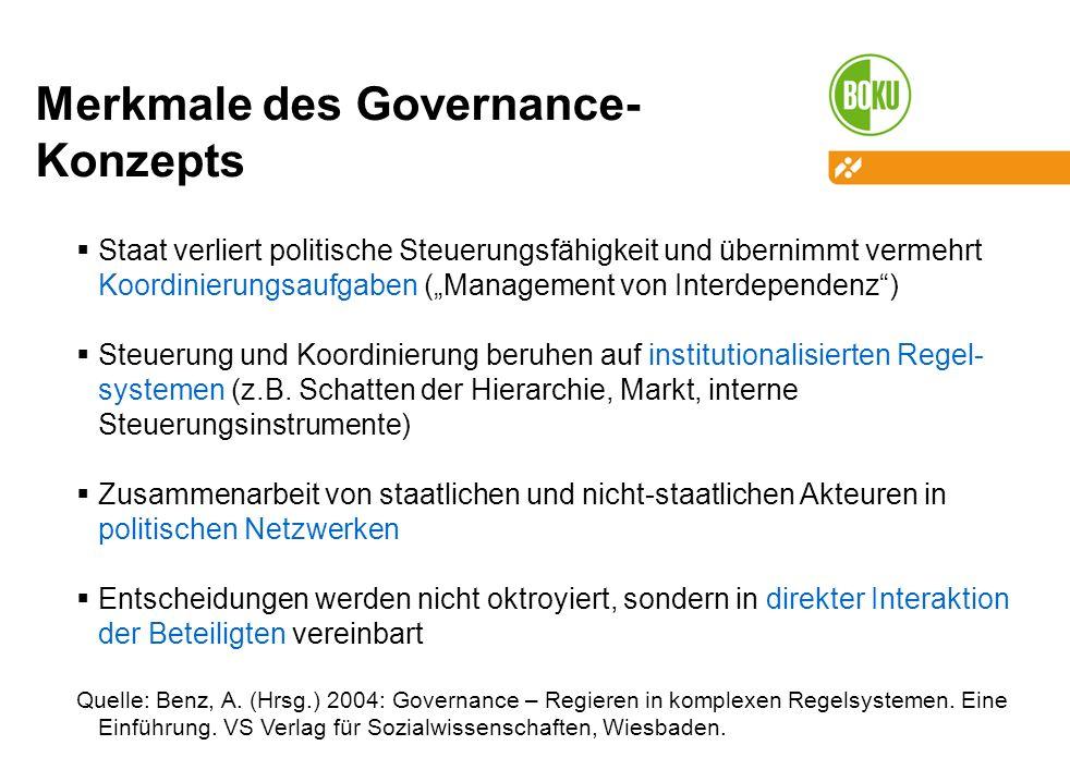 Merkmale des Governance-Konzepts