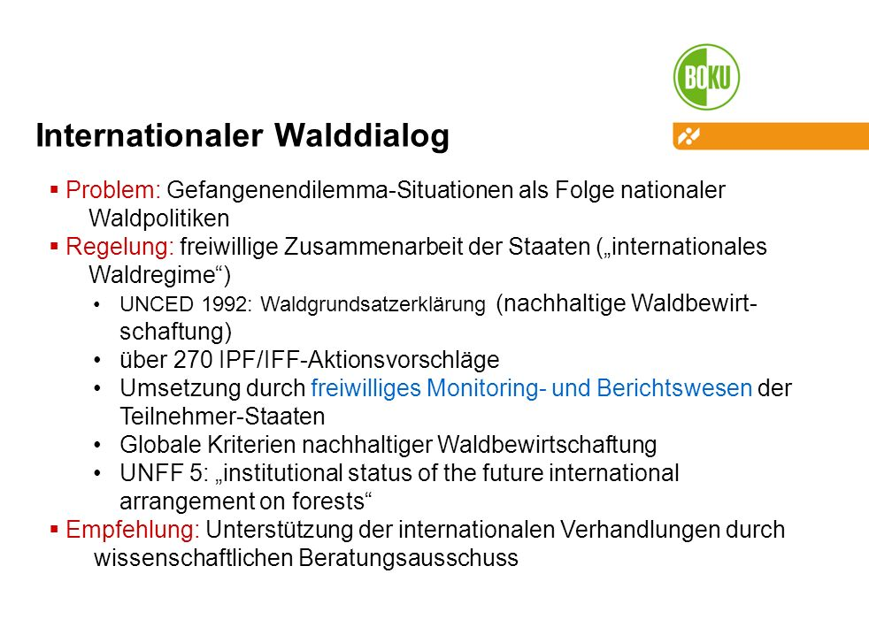 Internationaler Walddialog