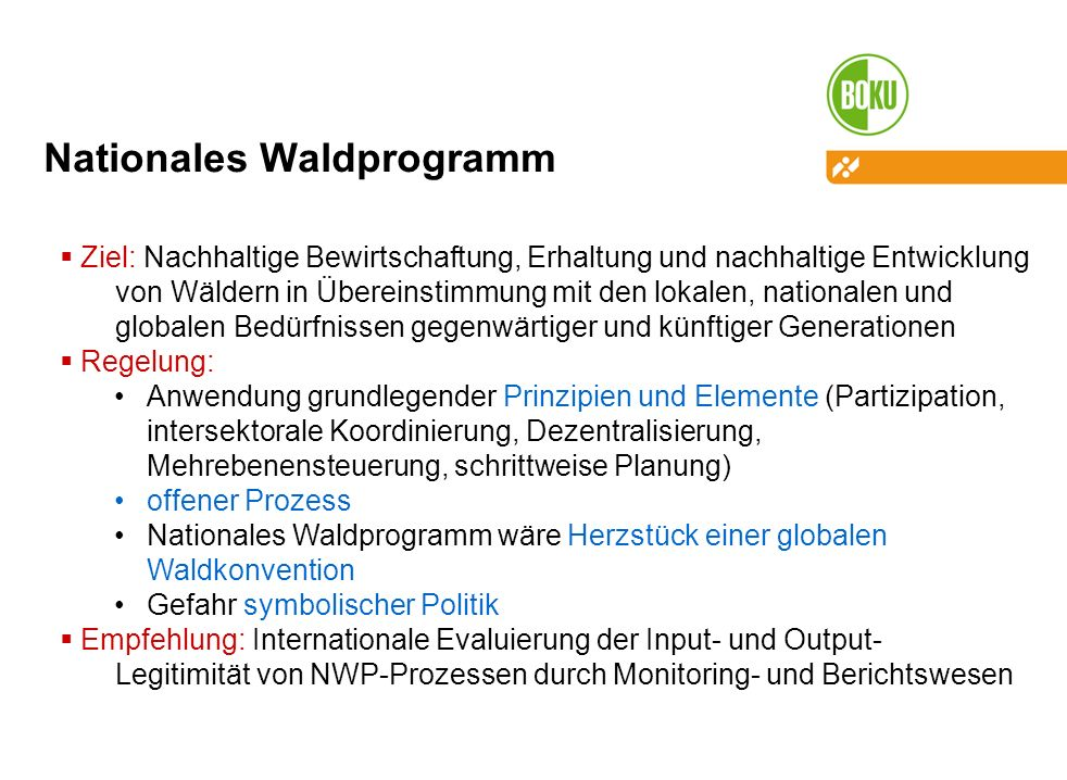 Nationales Waldprogramm