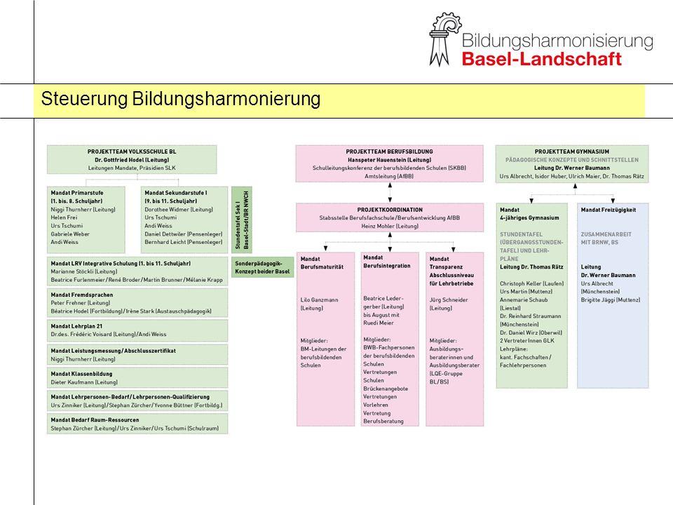 Steuerung Bildungsharmonierung