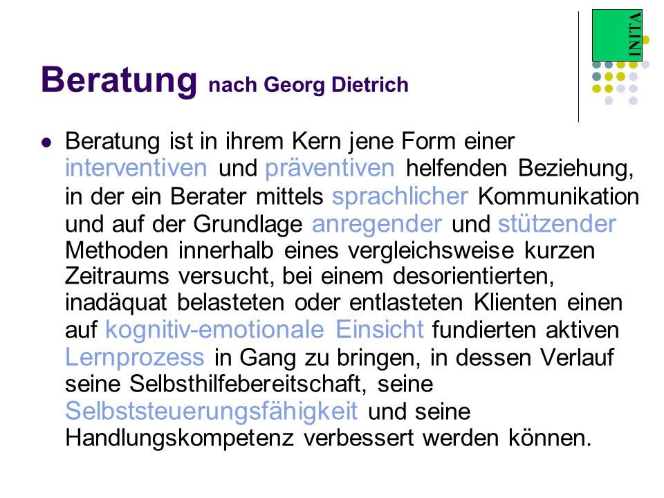 Beratung nach Georg Dietrich