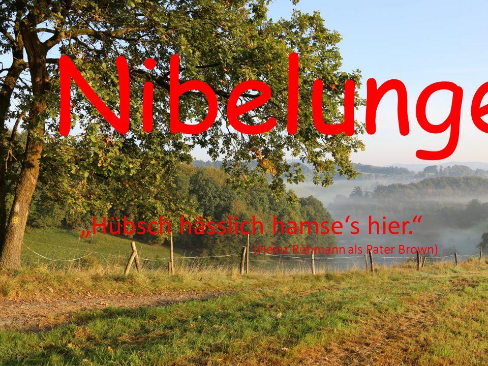 """Nibelungenland """"Hübsch hässlich hamse's hier."""