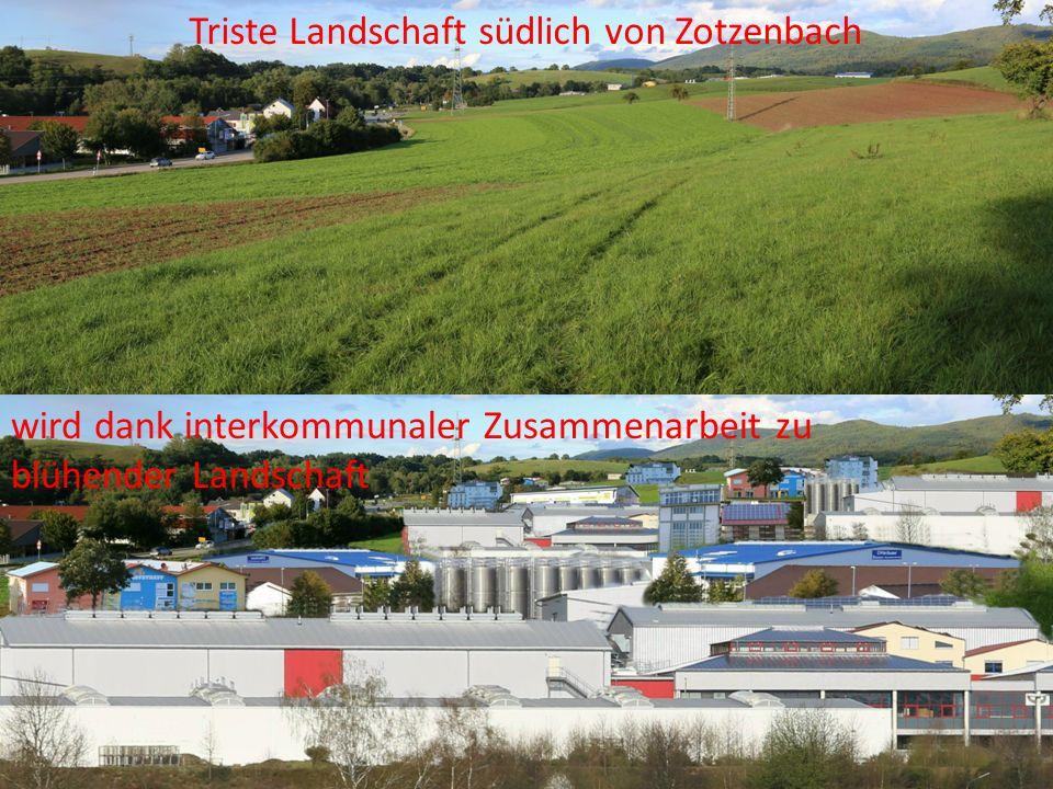 Triste Landschaft südlich von Zotzenbach