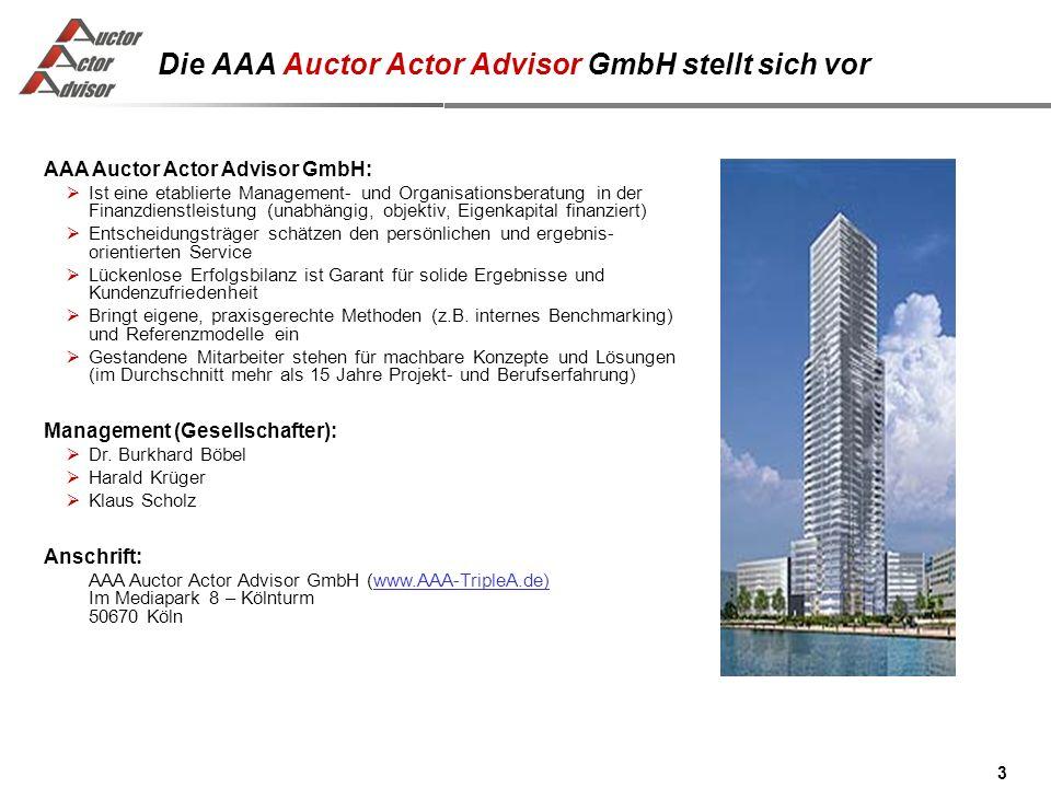 Die AAA Auctor Actor Advisor GmbH stellt sich vor