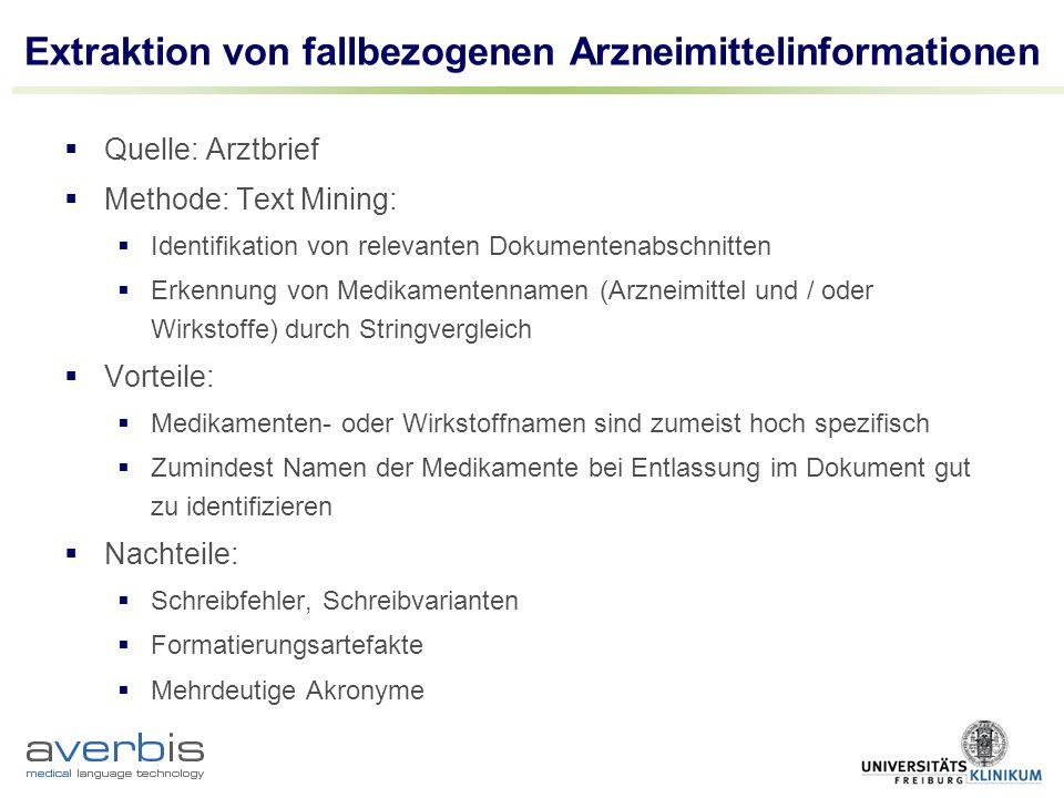 Extraktion von fallbezogenen Arzneimittelinformationen