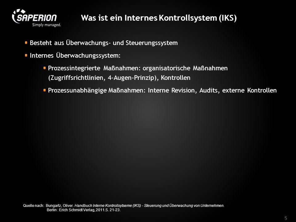 Was ist ein Internes Kontrollsystem (IKS)