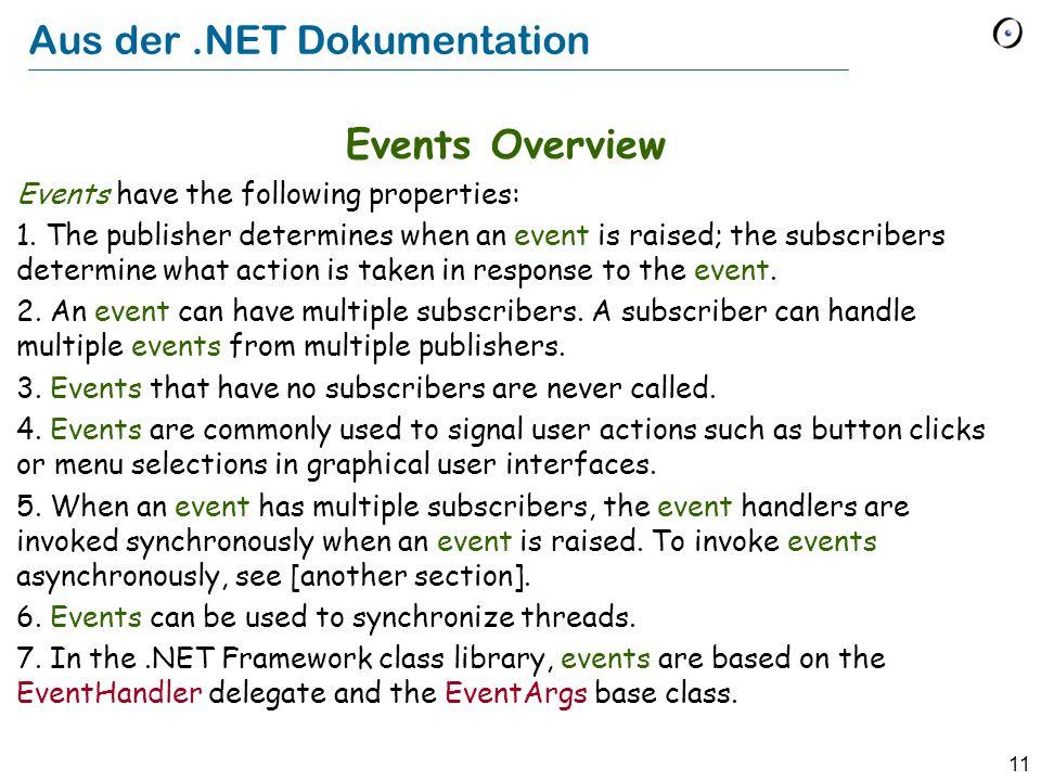 Aus der .NET Dokumentation