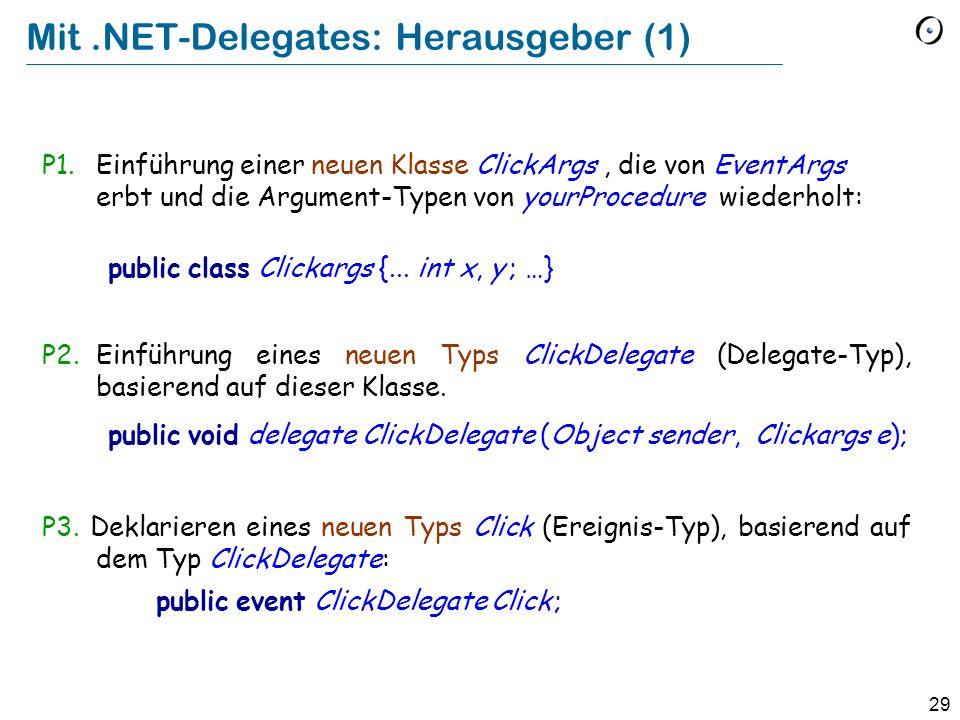 Mit .NET-Delegates: Herausgeber (1)