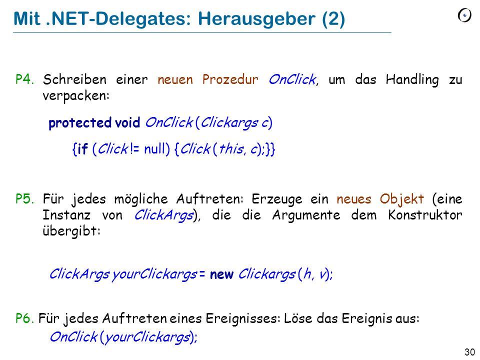 Mit .NET-Delegates: Herausgeber (2)