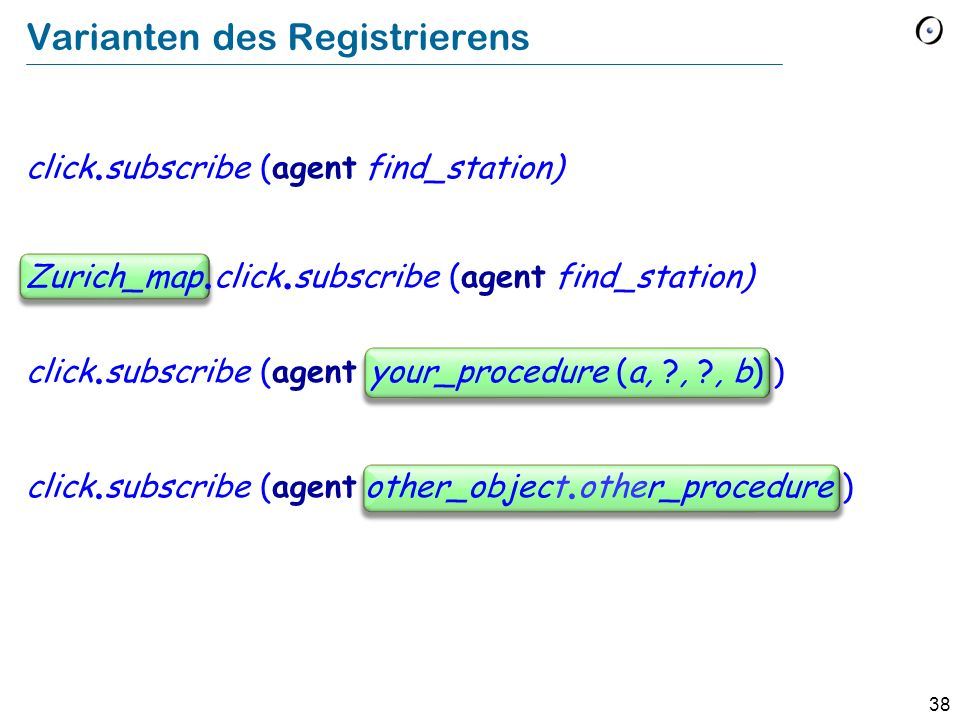 Varianten des Registrierens