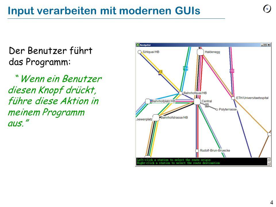 Input verarbeiten mit modernen GUIs