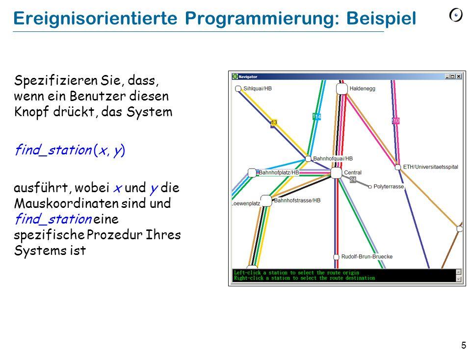 Ereignisorientierte Programmierung: Beispiel