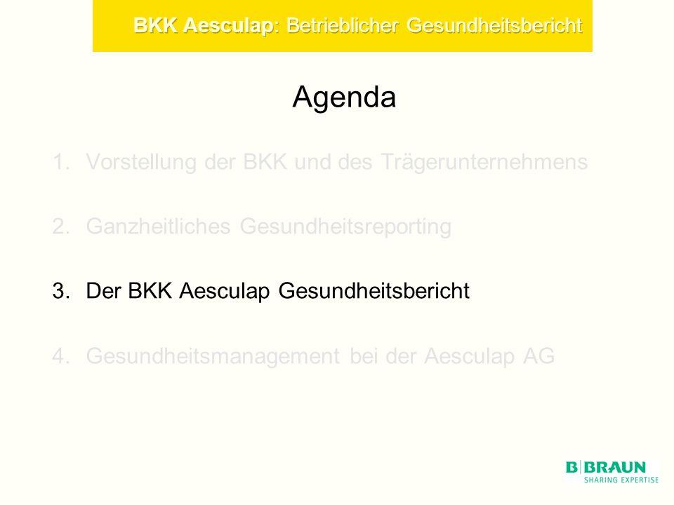 Agenda Vorstellung der BKK und des Trägerunternehmens