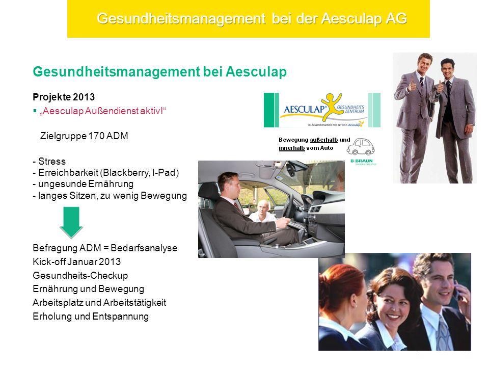 Gesundheitsmanagement bei Aesculap