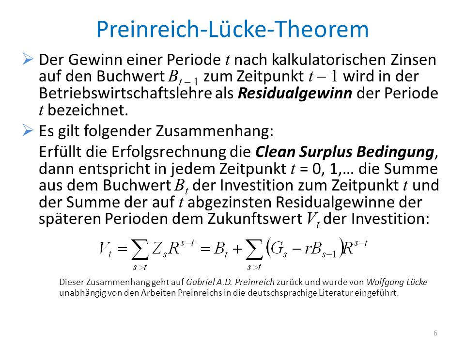 Preinreich-Lücke-Theorem
