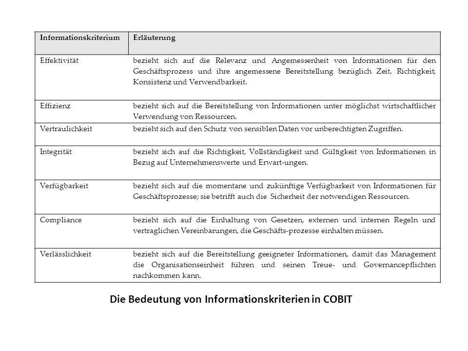 Die Bedeutung von Informationskriterien in COBIT