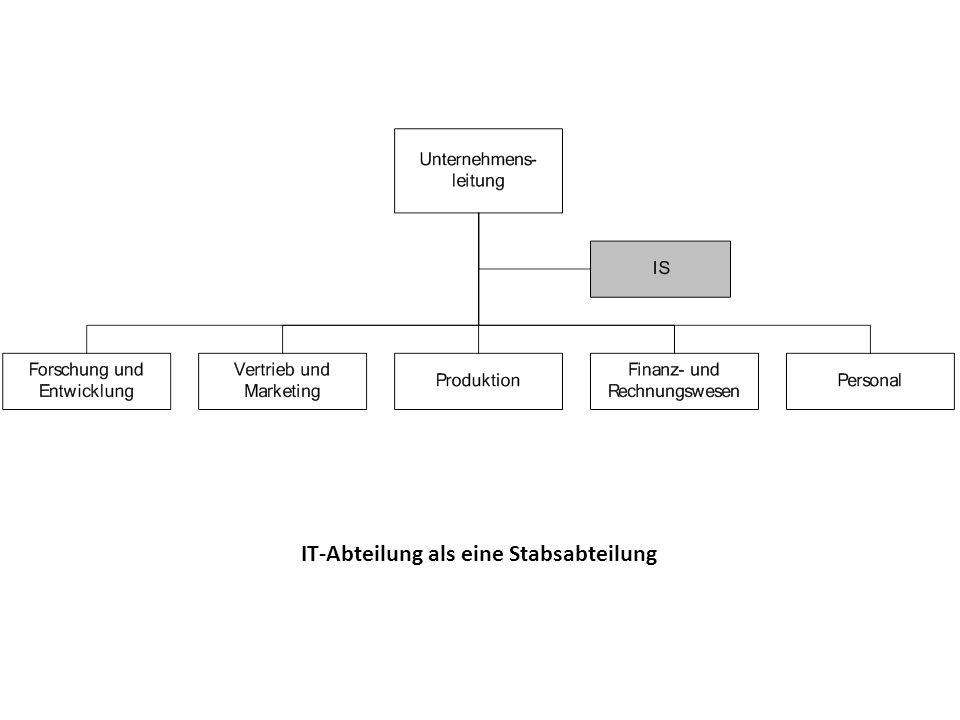 IT-Abteilung als eine Stabsabteilung