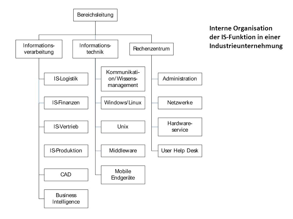 Interne Organisation der IS-Funktion in einer Industrieunternehmung