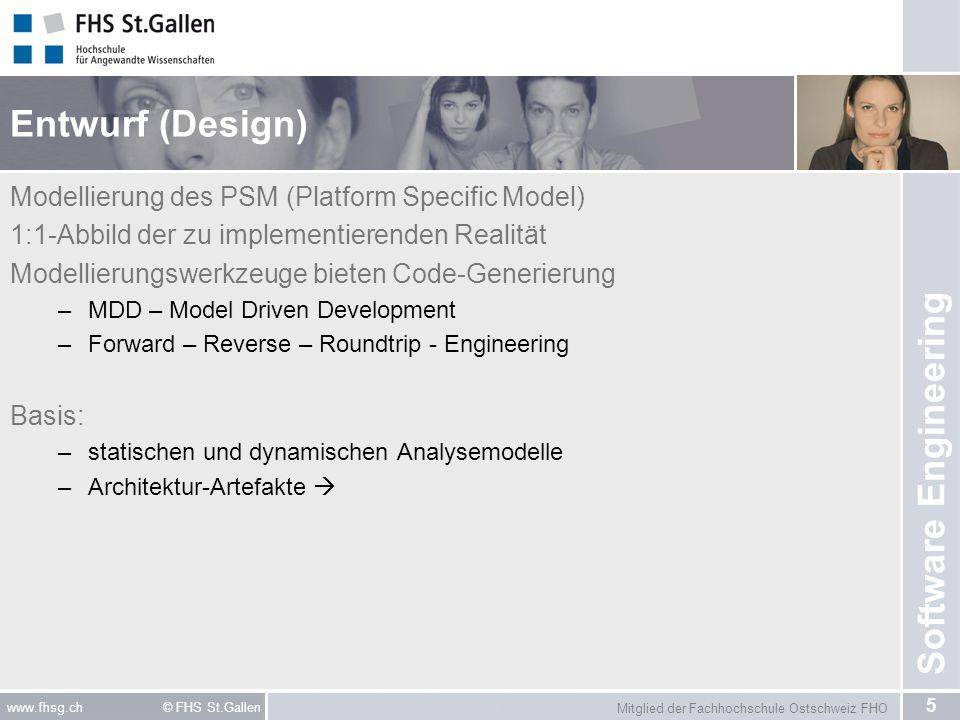 Entwurf (Design) Modellierung des PSM (Platform Specific Model)