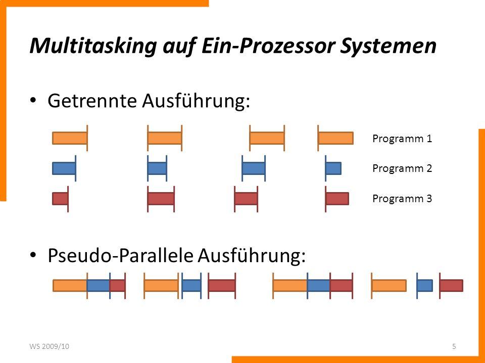 Multitasking auf Ein-Prozessor Systemen