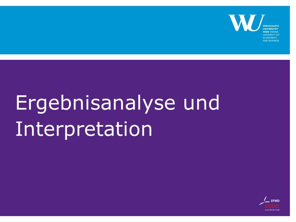 Ergebnisanalyse und Interpretation