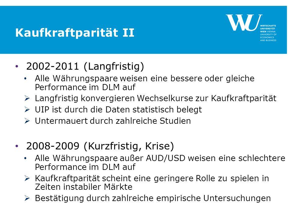 Kaufkraftparität II 2002-2011 (Langfristig)