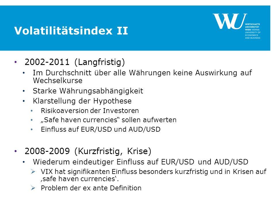 Volatilitätsindex II 2002-2011 (Langfristig)