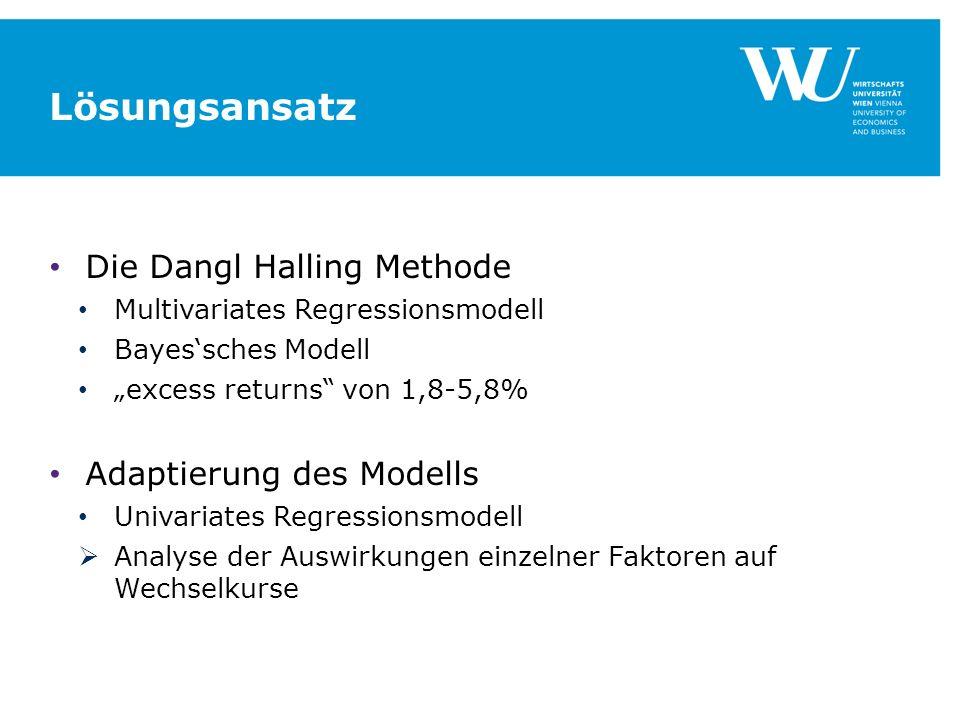 Lösungsansatz Die Dangl Halling Methode Adaptierung des Modells