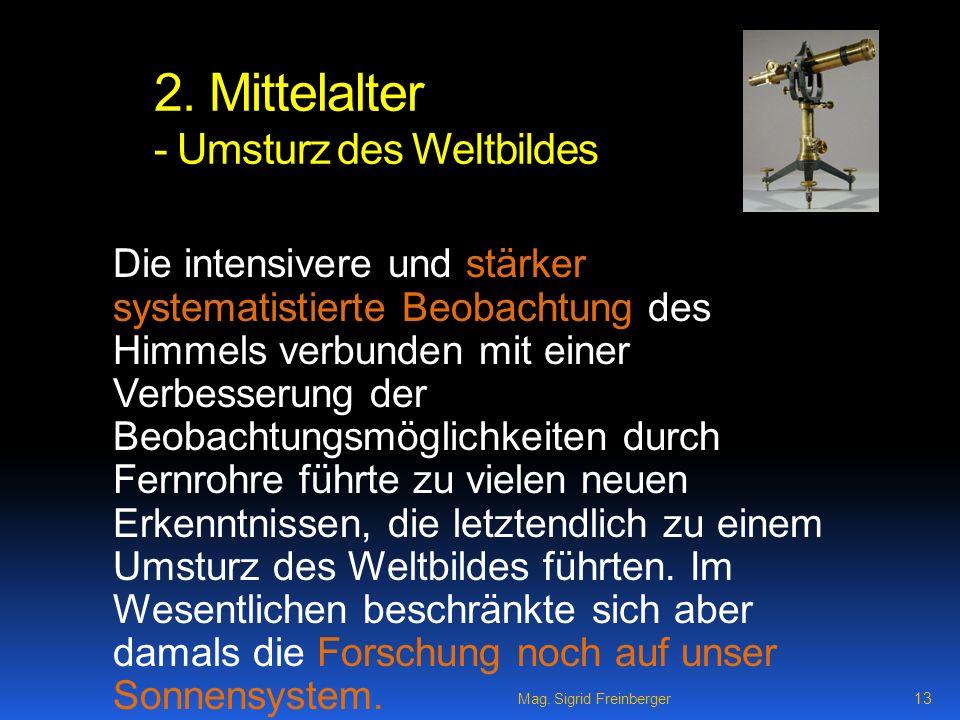 2. Mittelalter - Umsturz des Weltbildes