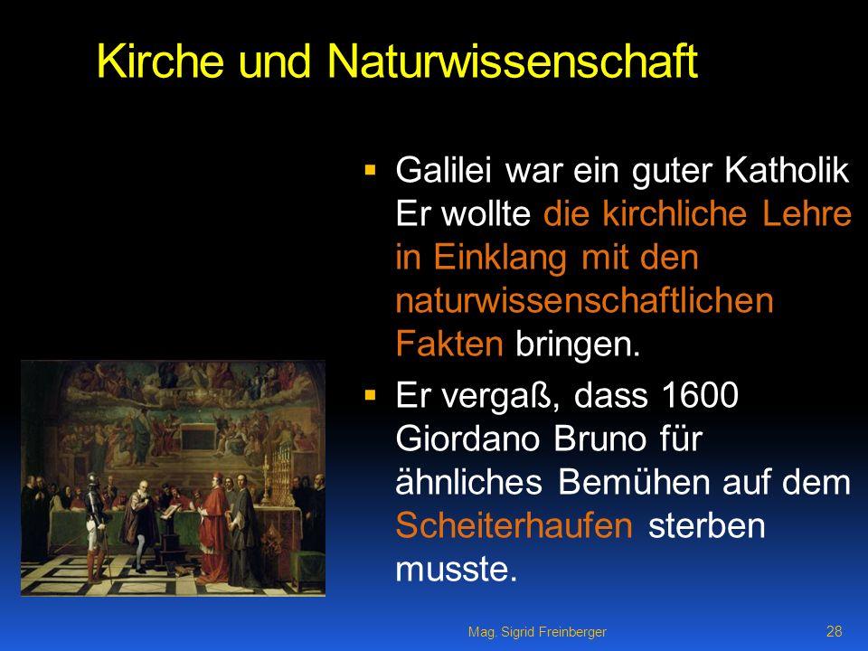 Kirche und Naturwissenschaft