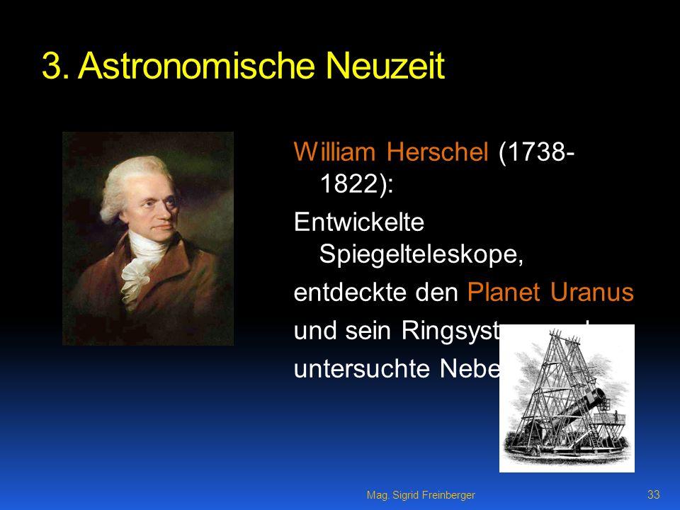3. Astronomische Neuzeit