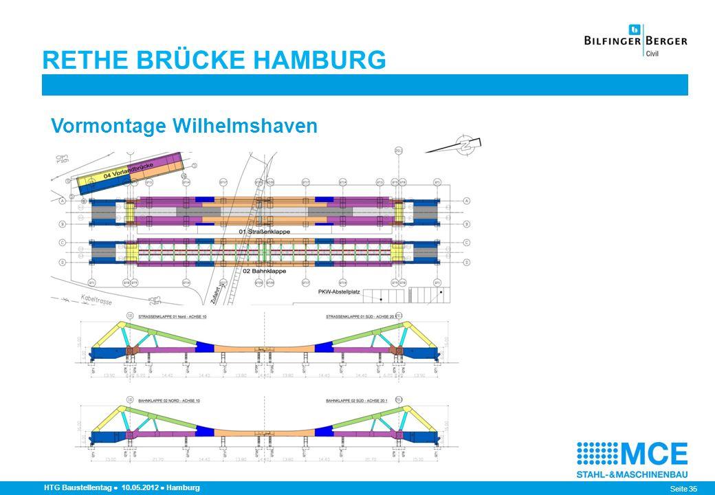 RETHE BRÜCKE HAMBURG Vormontage Wilhelmshaven