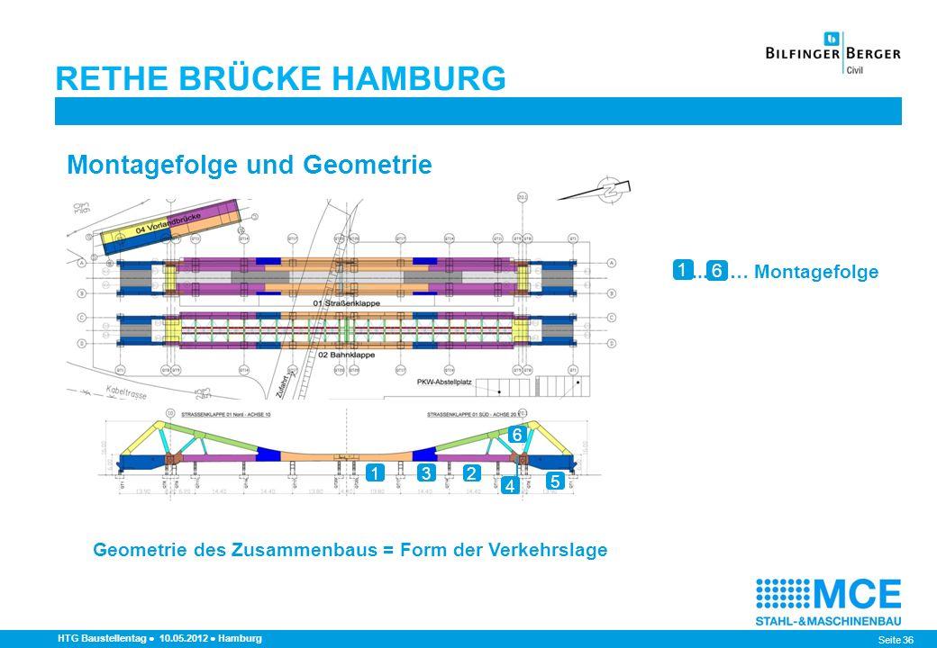 RETHE BRÜCKE HAMBURG Montagefolge und Geometrie 1 ... … Montagefolge 6