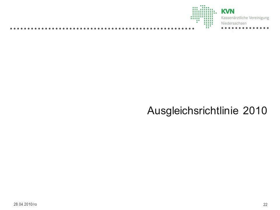Ausgleichsrichtlinie 2010
