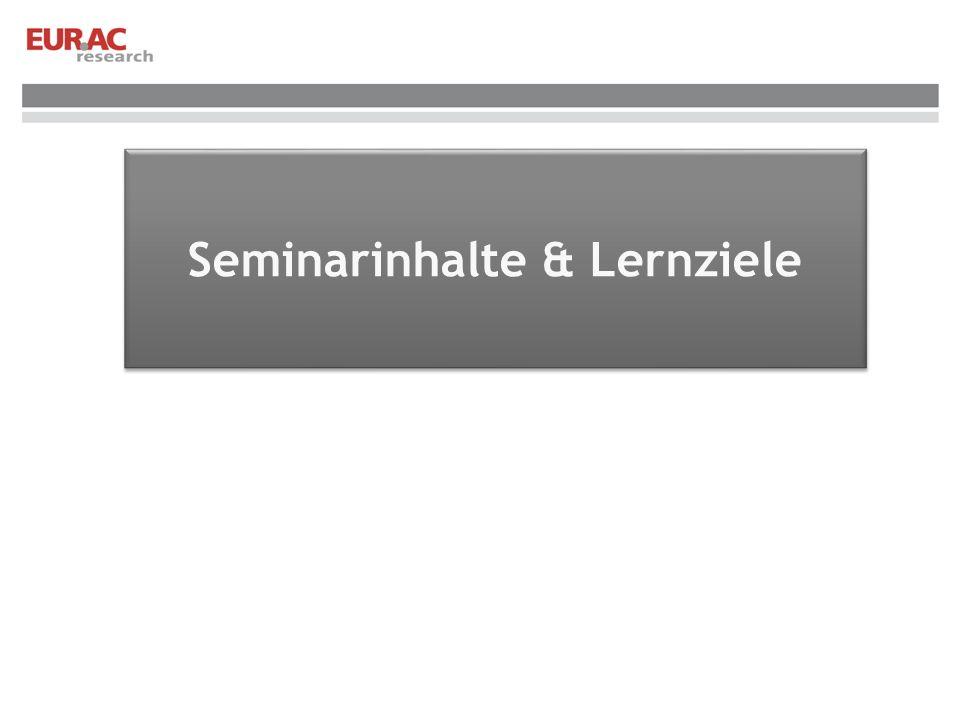 Seminarinhalte & Lernziele